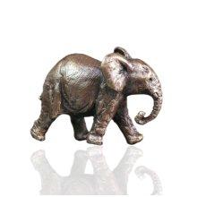 Bronze Elephant Trunk Down Figure - Butler & Peach - 2000