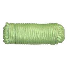 "3/16"" Glow In Dark Polypropylene Rope -  glow rope yellowstone dark 316 15m camping thick guy 50ft"