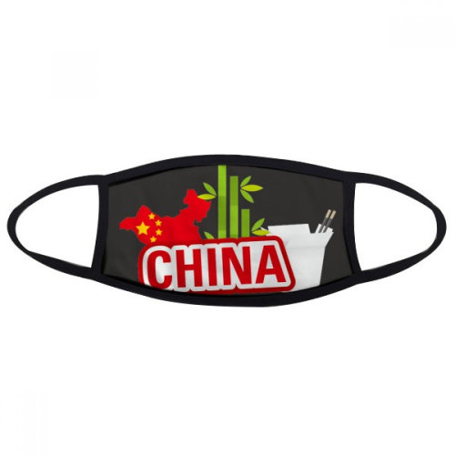 China Map Bamboo Red China Town Mouth Face Anti-dust Mask Anti Cold Warm Washable Cotton Gift