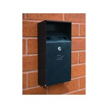 Wall Mountable Compact Cigarette Bin - Black Textured Finish