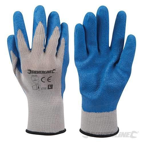 Silverline Rubber Builders Gloves Large