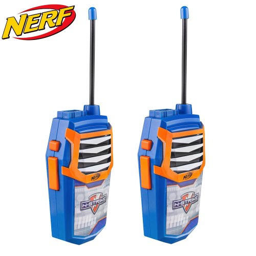 Kids Walkie Talkie Toy for Children Great Fun for Indoor and Outdoor Play - 2 in 1 Walkie Talkies with built in Flashlight - Boys (Nerf)