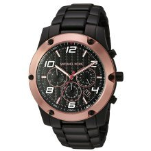 Michael Kors Caine Black Stainless Steel Chronograph Mens Watch MK8513