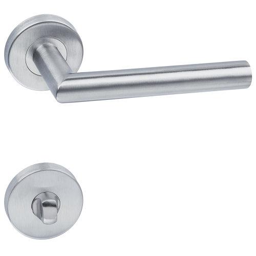 Door handle set stainless steel - grey