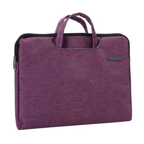 Portable Canvas Document Organizer A4 Zipper Bag Office Briefcase-Rose
