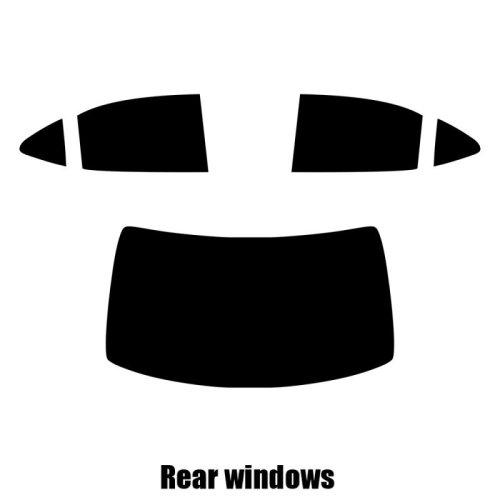 Pre cut window tint - Lexus IS 4-door Saloon - 2014 and newer - Rear windows