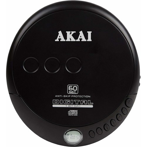 Akai A61007 CD Discman  60 Seconds Anti-Skip Protection, LCD Display
