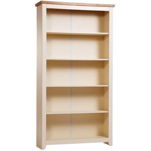 James Wood Tall Cream Bookcase 5 Shelves