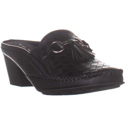 Rialto Santana Backless Heeled Loafers, Black, 8 UK