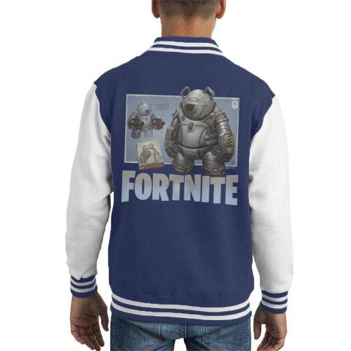 Fortnite Bear Blueprint Kid's Varsity Jacket
