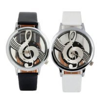 Faux Leather Music Pitch Watch | Treble Clef Wrist Watch