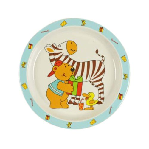 3 Pieces Of Fashion Cartoon Bear And Horse Pattern Drop Resistance Plate