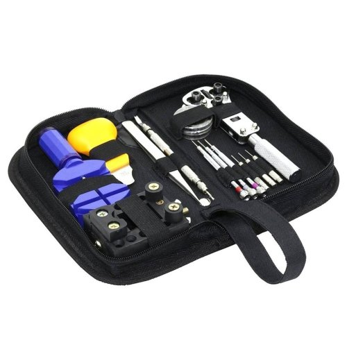 Premium Watch Repair Tool Kit Pouch Watches Back Case Remove Opener Battery