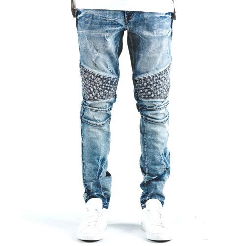 Embellish Turkish Biker Denim Jeans Blue