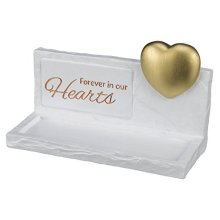 Memorial Stone White With Gold Heart 20 x 12 x 7 Centimeter - Trixie Dog New -  trixie memorial stone heart dog new