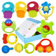 Baby Teether Toys and Rattles Toy Gift Sets/ 10 Piece Baby Rattle Toy Gift Set