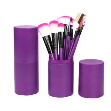 PURPLE Cosmetic Barrel Packaging/12 Pieces Makeup Brushes