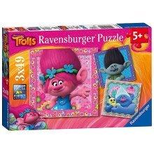 Ravensburger Dreamworks Trolls 3 X 49 Piece Puzzles