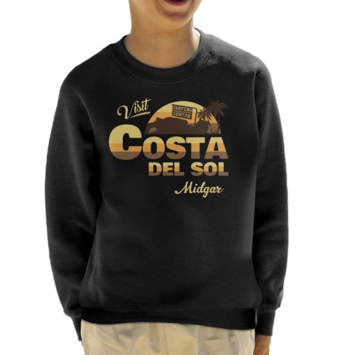 Final Fantasy Visit Costa Del Sol Midgar Kid's Sweatshirt