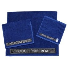Doctor Who TARDIS 3-Piece Towel Set - Bath, Hand and Face Towels