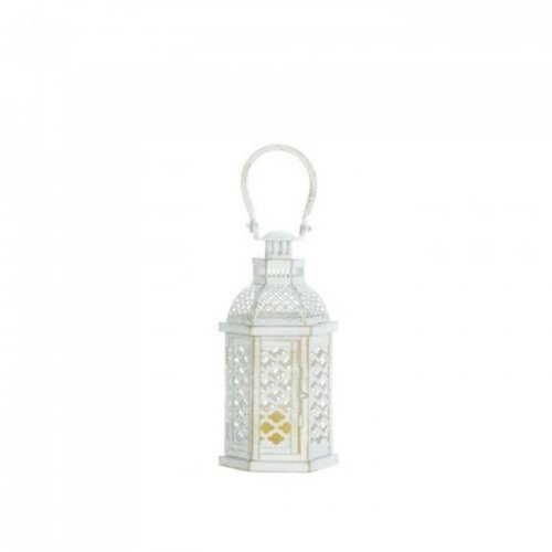 Gallery of Light 10018354 Moroccan Glamour Lantern - White