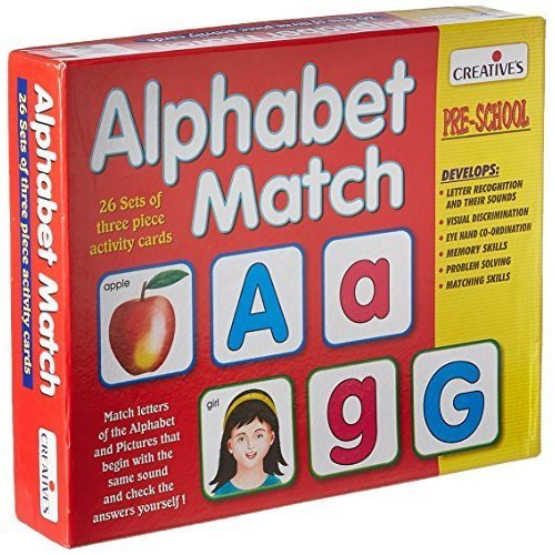 Creative Pre-school -alphabet Match - Preschool Alphabet Educational Cards -  creative preschool alphabet match educational cards