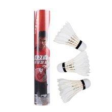 12PCS Durable White Goose Feather  Badminton Shuttlecocks