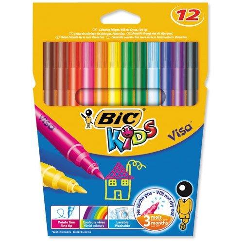 Bic Kids Visa Felt Pens Pack 12