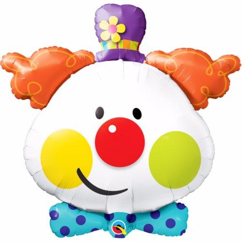 Qualatex Cute Clown Supershape Foil Party Balloon