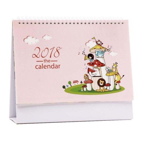 High-grade Lovely Beautiful 2017-2018 Desk Calendar, Home Office Calendar