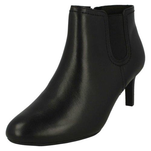Ladies Clarks Smart Ankle Boots Dancer Sky - D Fit