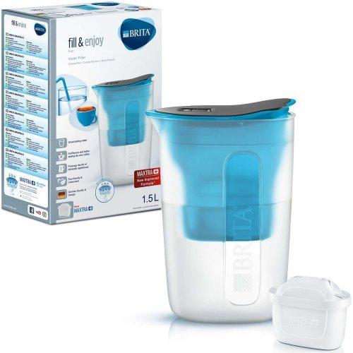BRITA Fun Water Filter Compact Fridge Jug and MAXTRA+ Plus Cartridge Refill Blue