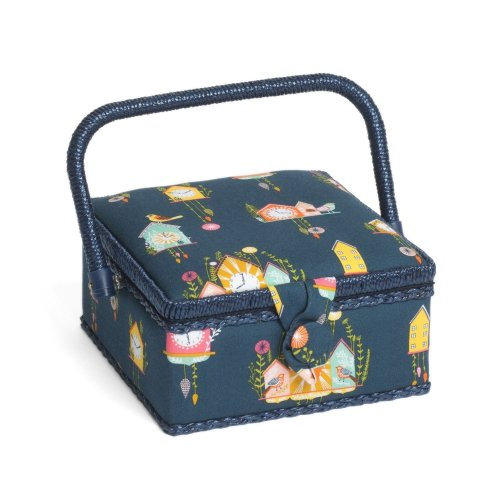Hobbygift Premium Sewing Basket - Cuckoos Calling - 20cm x 20cm x 11cm