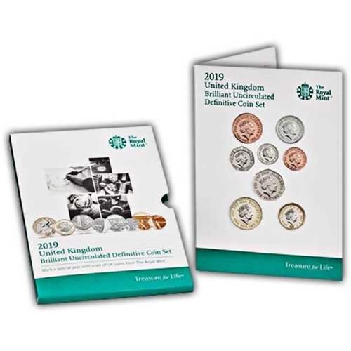 The 2019 United Kingdom Definitive Brilliant Uncirculated Coin Set