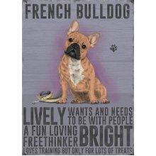 French Bulldog Metal Wall Plaque