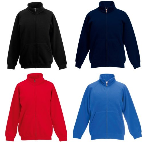 Fruit Of The Loom Childrens/Kids Unisex Poly-Cotton Sweat Jacket