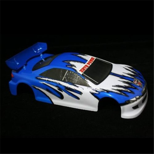 10 200mm Onroad Car Body Blue and White