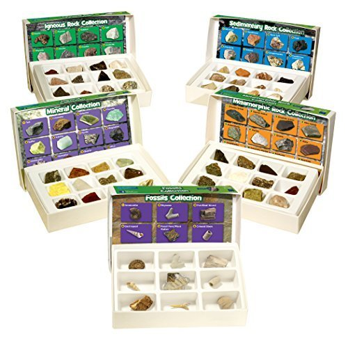 Educational Insights Complete Rock, Mineral, and Fossil Collection