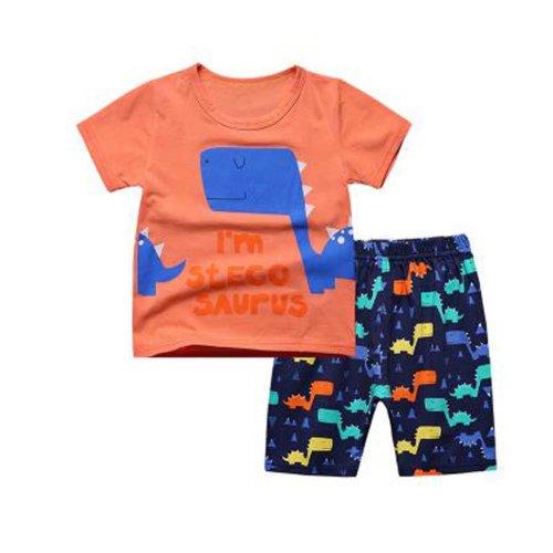 Boys Dinosaur Pajamas Soft Cotton Kids Summer Children Sleepwear
