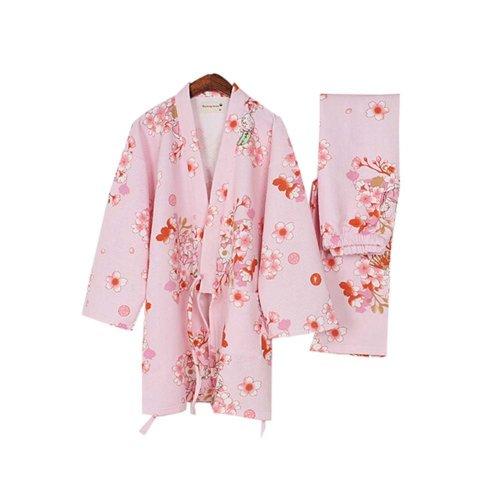 Autumn & Winter Kimono Loose Cotton Pajamas Women's Pajamas Suit Thicken