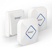 Innoo Tech Doorbell with 2 Receivers, IP44 Weatherproof Electric Door Bell Chime