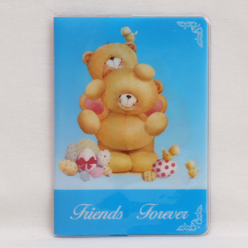 Friends Forever Blue Pink Bears Passport Cover