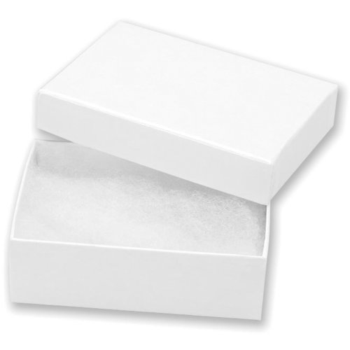 "Jewelry Boxes 3""X2.125""X1"" 6/Pkg-White"