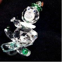 Cut Crystal Circus Clown on a Sledge Ornament