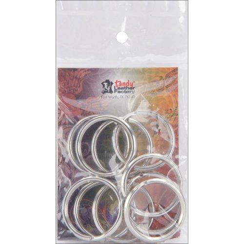 """Nickel Split Key Rings-1.25"""" 10/Pkg"""