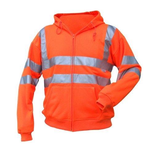 Click BSHSSENORL Hi Vis Orange Hooded Sweatshirt Large