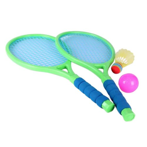 Tennis Racket Children Games Badminton Racket Fitness Toys-Green