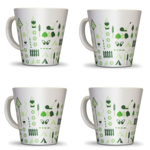 OLPRO Bewdley Melamine Mug Set (Pack of 4)
