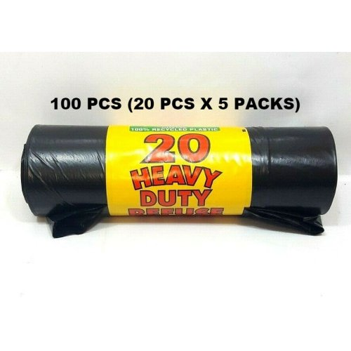100 ROYAL MARKETS HEAVY DUTY REFUSE SACKS WASTE BIN LINERS BLACK BAGS