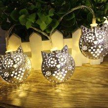 1.8M 10 LED Metal Owl String Lights